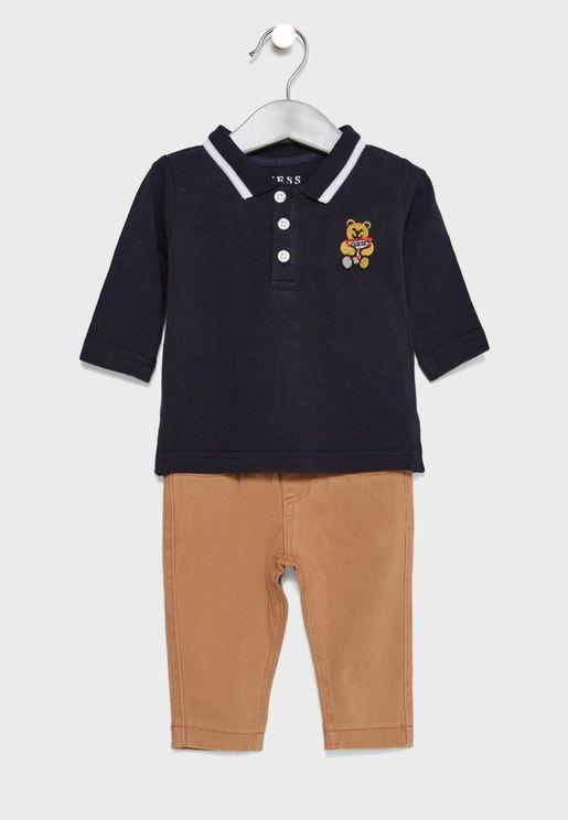Infant Polo + Pants Set