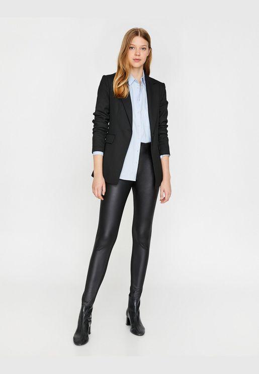 Leather Look Leggings