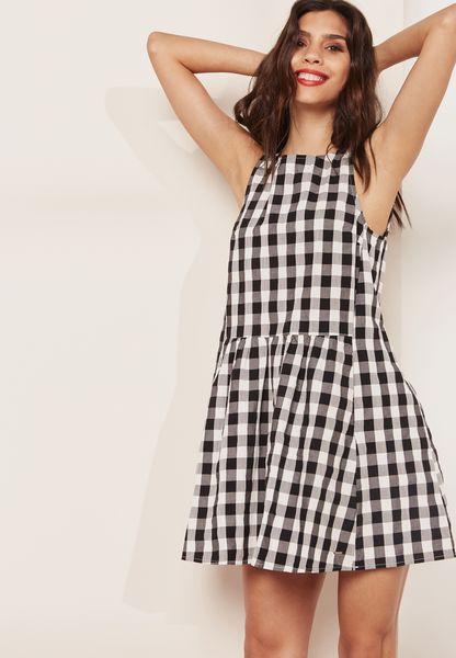 Gingham Skater Dress