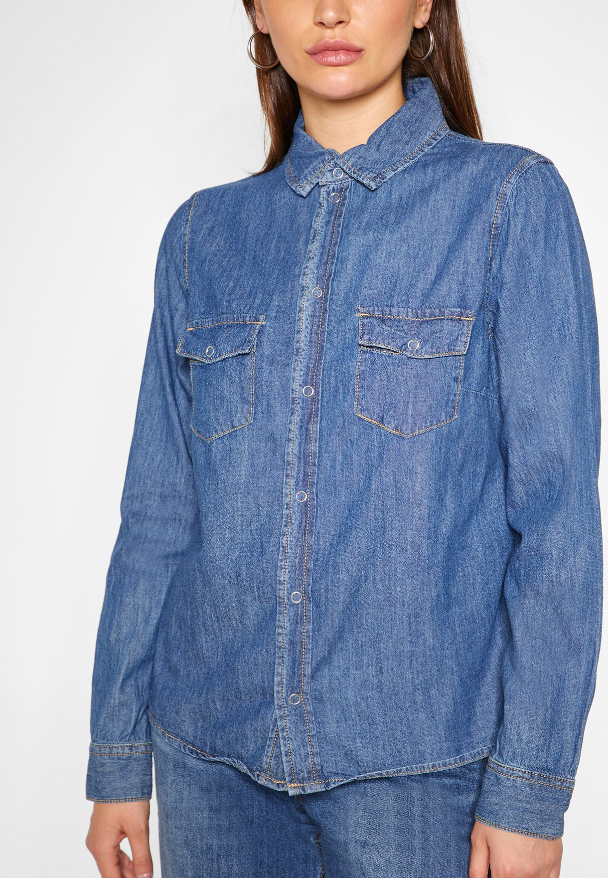 Denim Classic Fitted Shirt