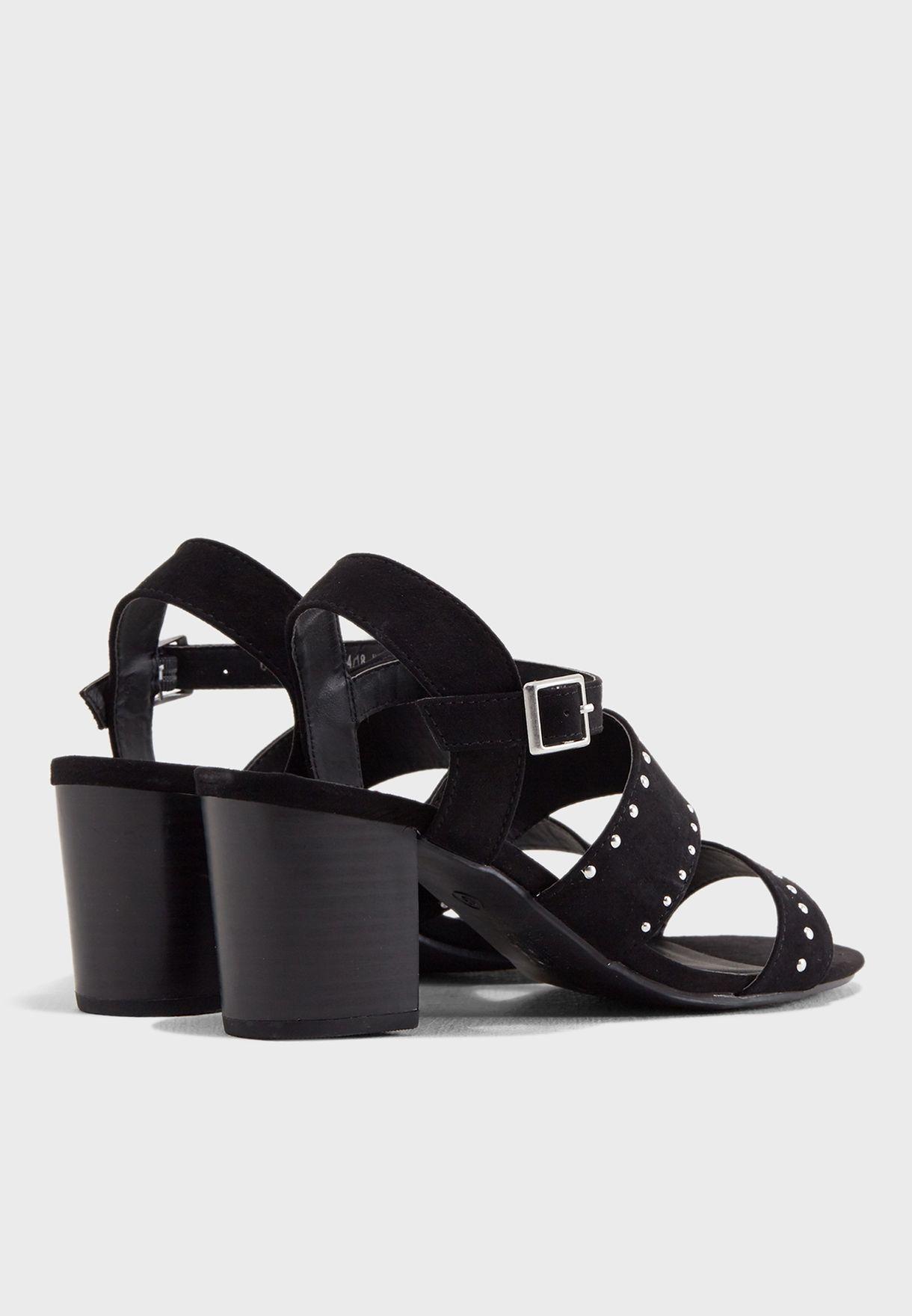 997cfc565 Shop Dorothy Perkins black Star Stud Embellished Sandals 19146210 ...