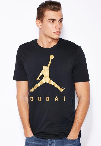Shop Nike black Jordan Dubai City T-Shirt 839151-010 for Men in Saudi -  NI727AT08QOD