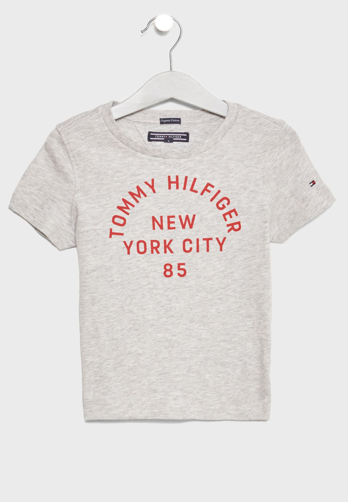 Shop Tommy Hilfiger grey Little Logo T-Shirt KB0KB03911 for Kids in Qatar -  TO279AT08VTF a7e17e94152