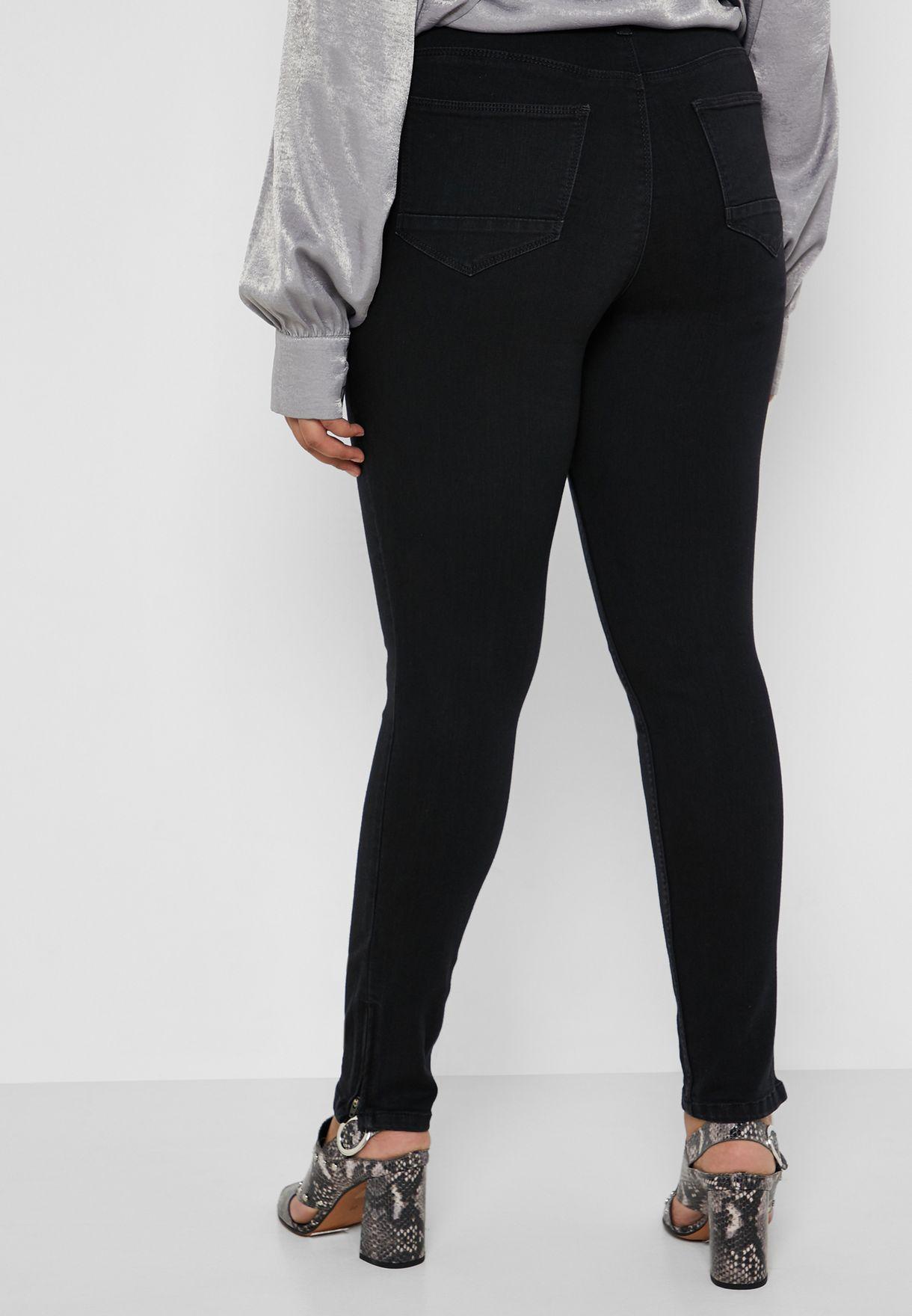بنطال جينز بسحاب علي الحافة