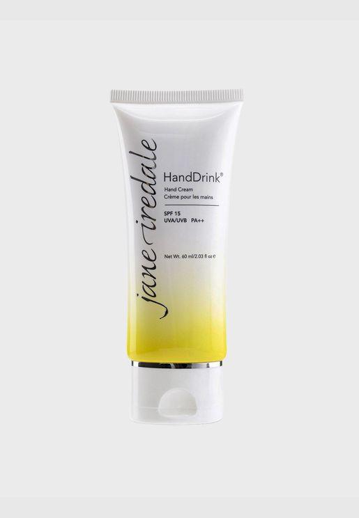 كريم لليدين HandDrink SPF 15 - عشب الليمون