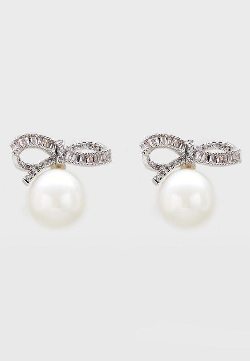 Jeweled Pearl Studs
