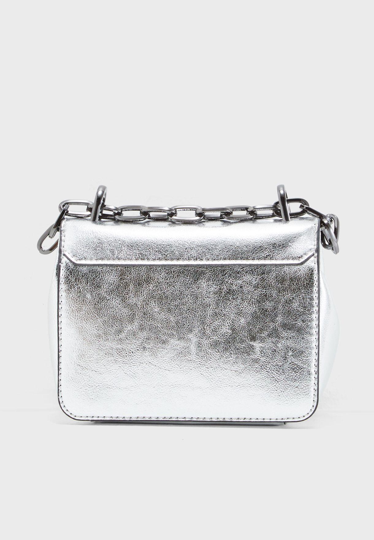 25c3ea46a77 Shop Calvin Klein silver Small Candy Crossbody K60K604394904 for ...