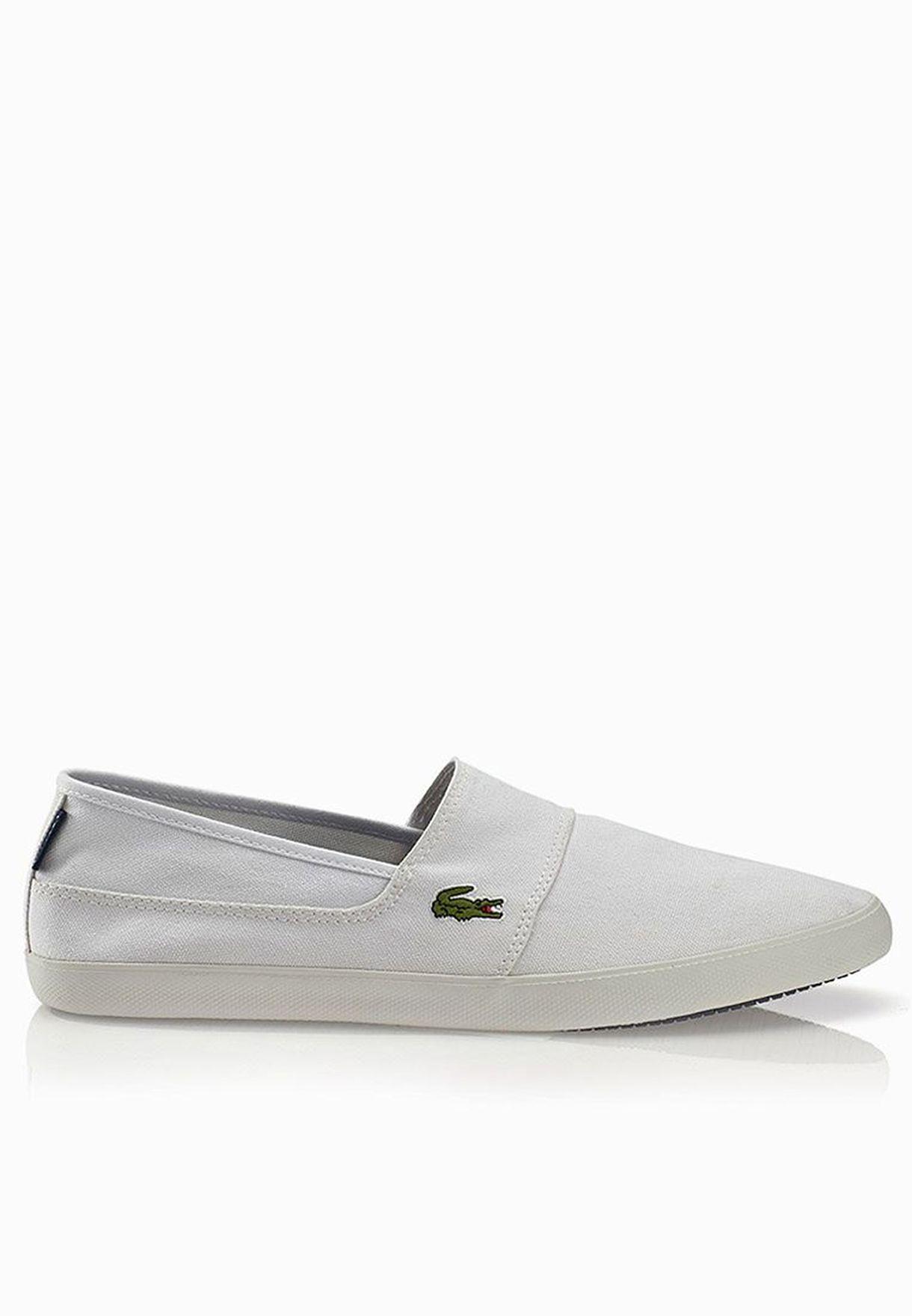 82c99bdb698b Shop Lacoste white Marice LCR Slip Ons 27SPM1082-21G for Men in Oman -  LA014SH08MBZ