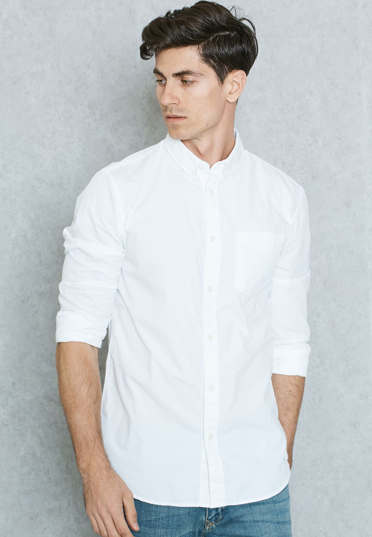 12118138 White Jones Qatar Jack For Slim Shop Men Fit In Shirt EBY4fxTqw