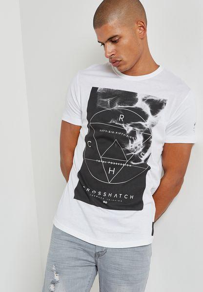 Mens Zerrick T-Shirt Crosshatch Clearance Low Cost Sale Browse tTRzCSS2M