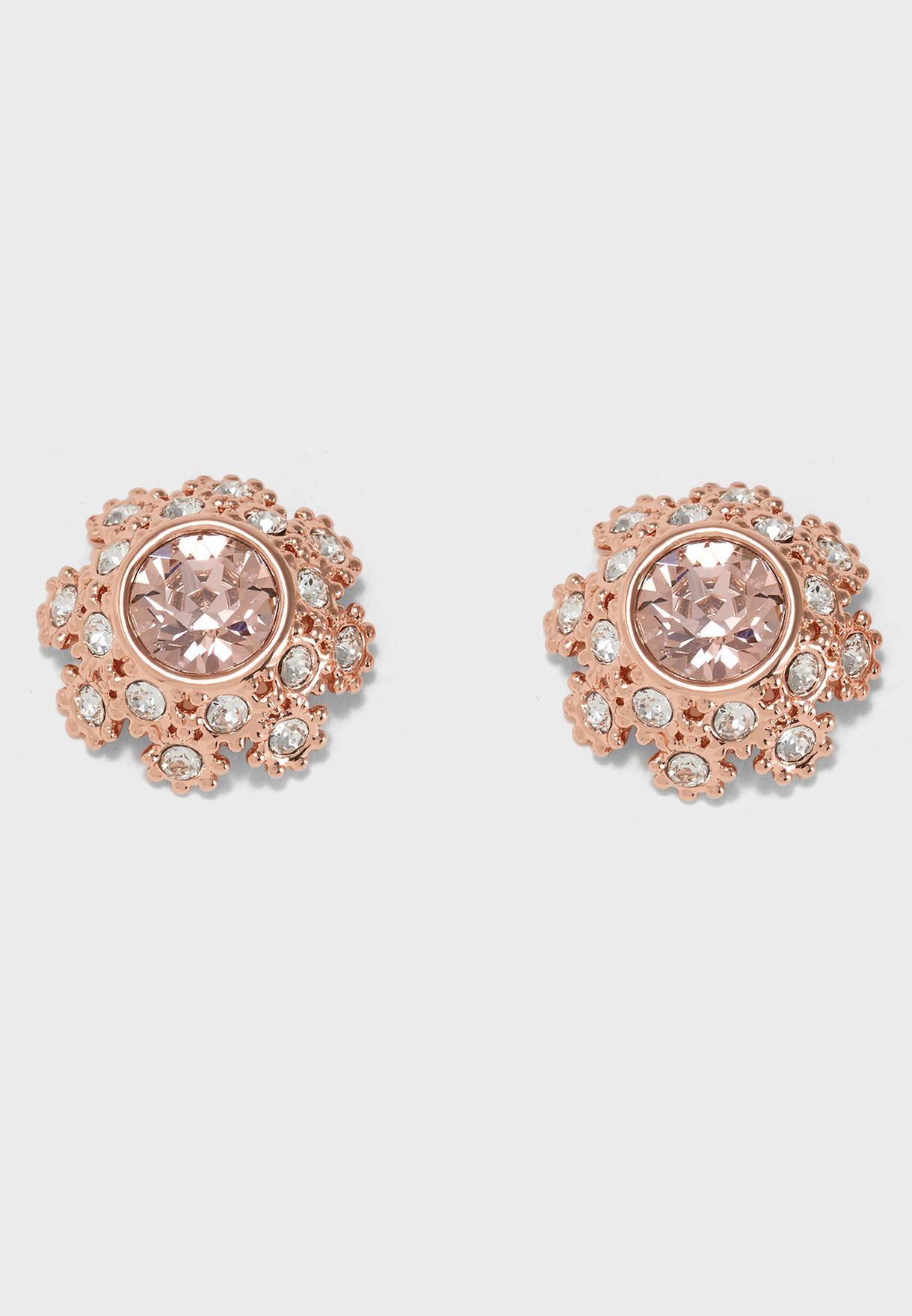 Seraa Crystal Daisy Lace Earrings