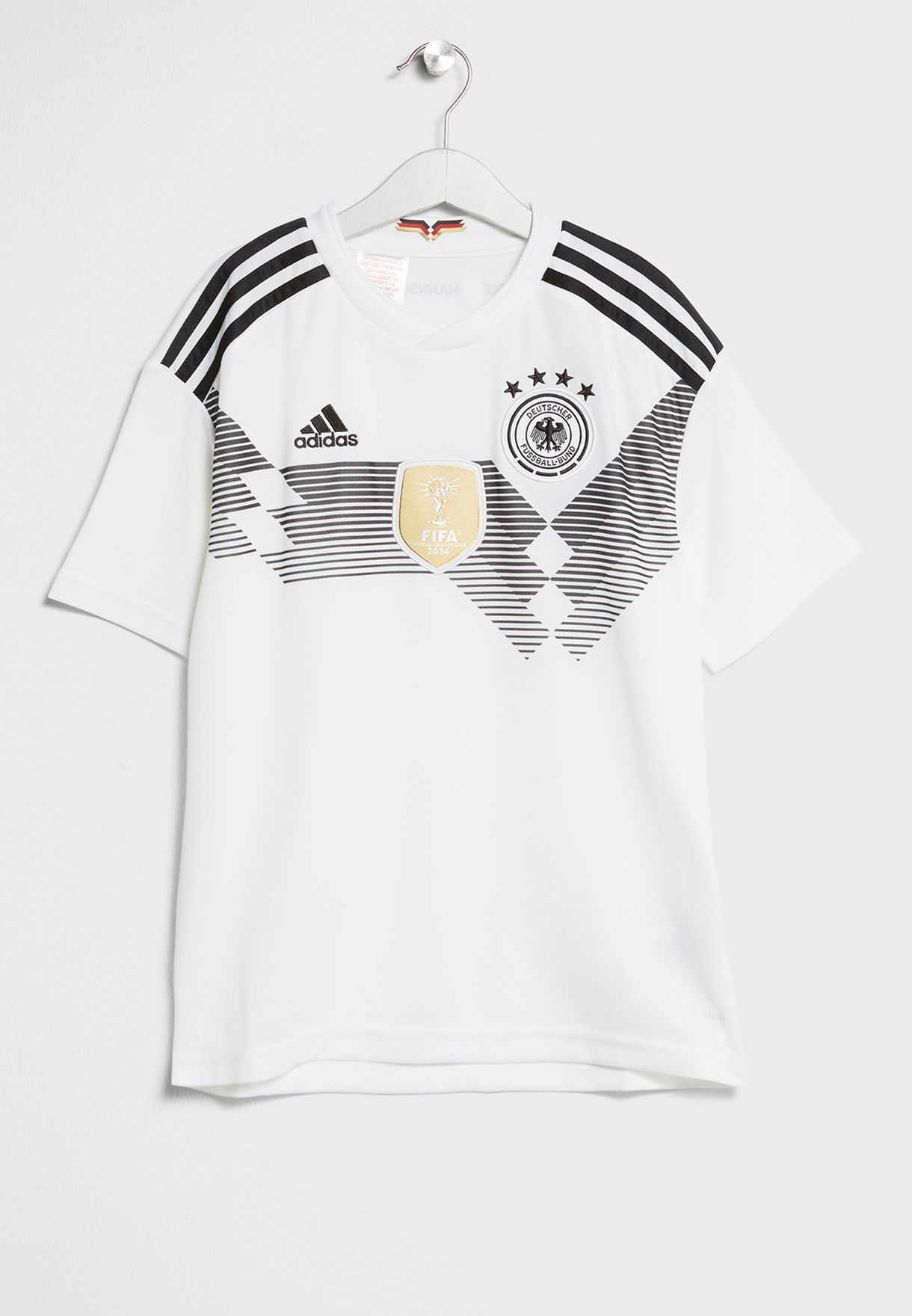3d6ecabe545 Shop adidas white Youth Germany Home Replica Jersey BQ8460 for Kids ...