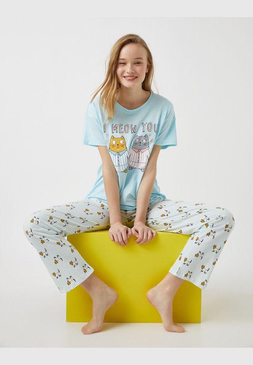 100% Cotton Animal Printed Pyjamas Set