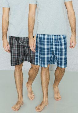 2 Pack Pyjama Shorts