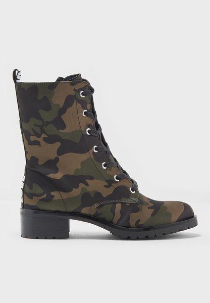 Ladies Love Combat Boot
