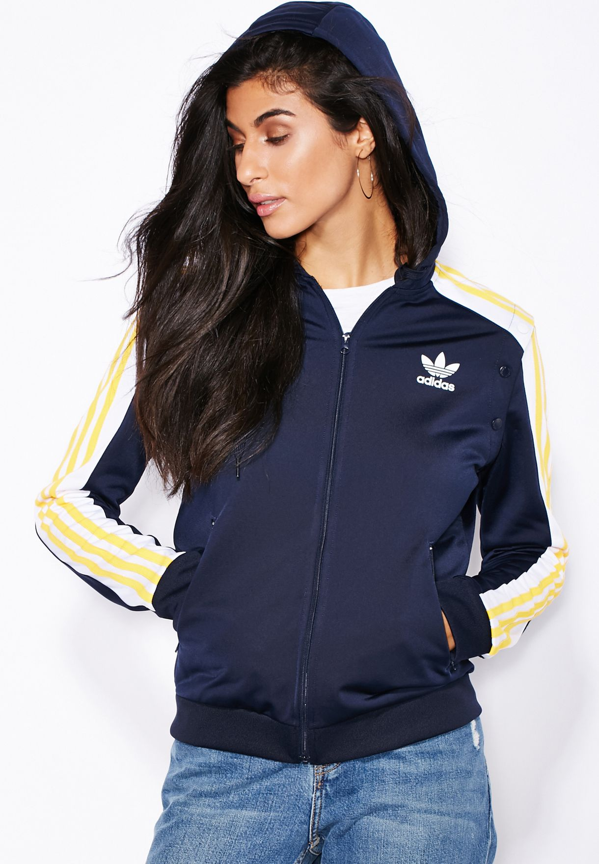 3a38191aa501 Shop adidas Originals blue Cosmic Zip Hoddie AA3878 for Women in UAE ...