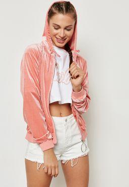 MG Barbie Ring Detail Bomber Jacket