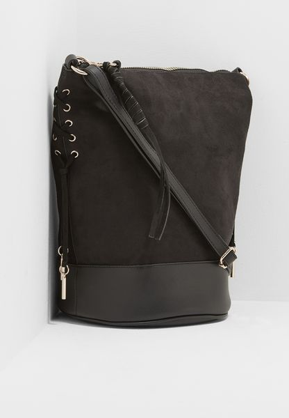 Lexie Lace Up Bucket Bag