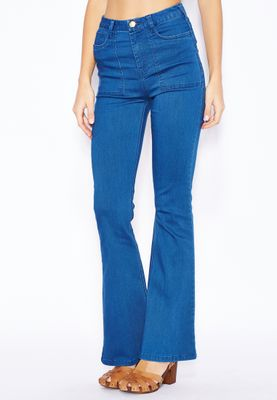 Ella High Waisted Flared Jeans
