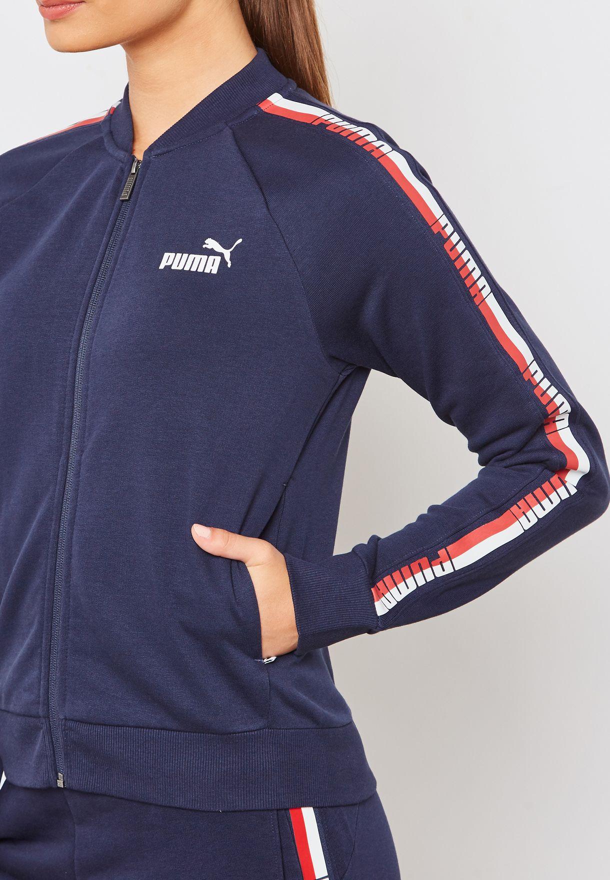 Shop PUMA navy Tape Track Jacket 85214006 for Women in Qatar ... f85f756861