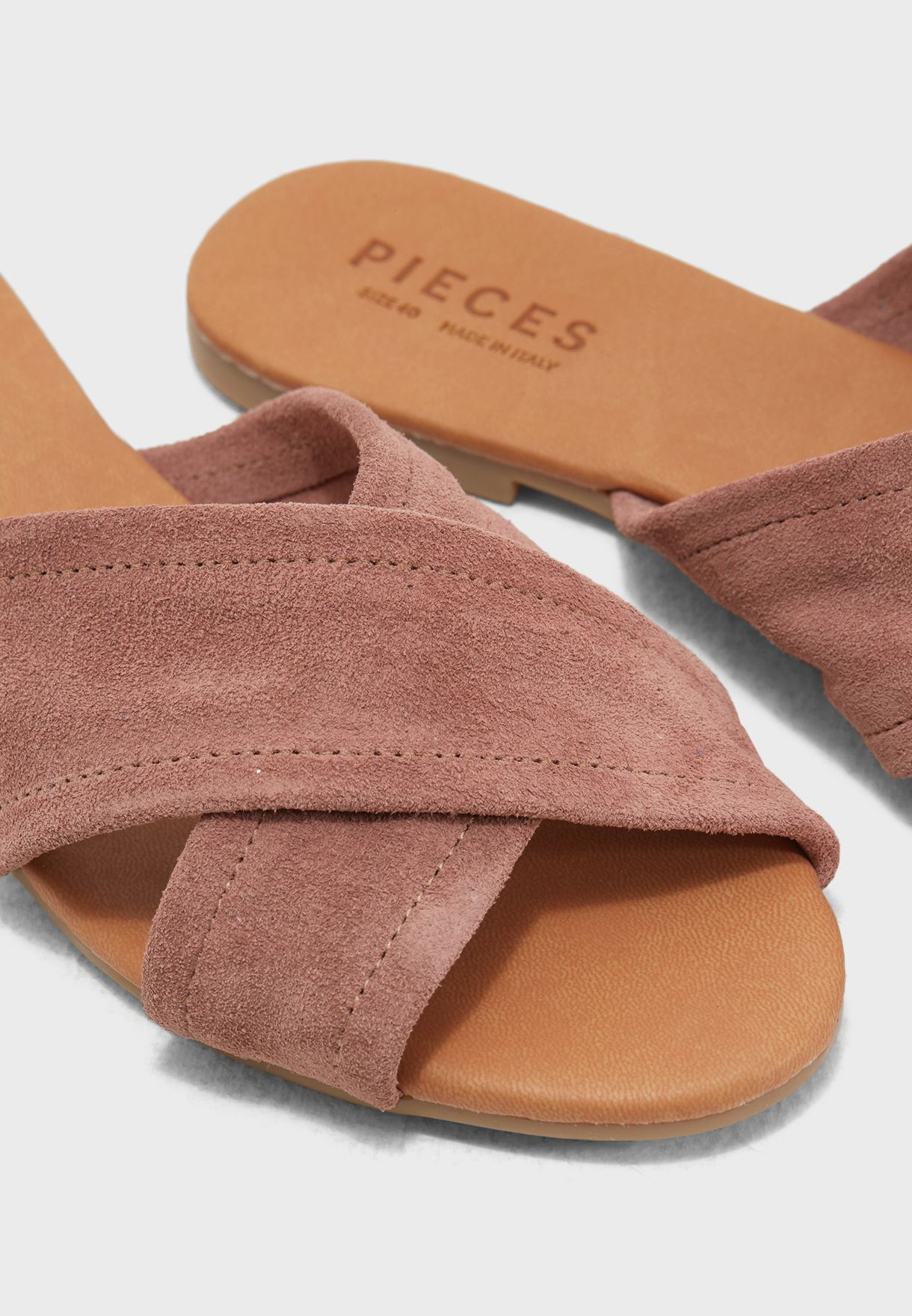 8264fdb35 Shop Pieces browns Marnie Suede Sandal 17086766 for Women in Kuwait ...