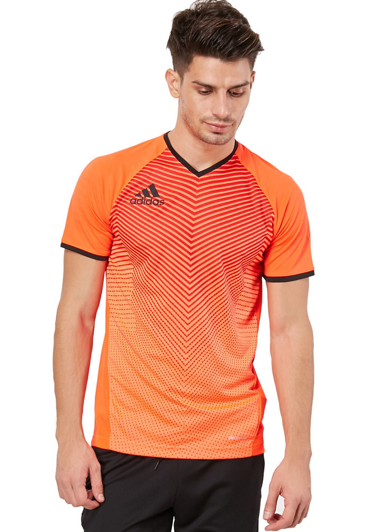 4cf02e533018 Shop adidas orange Clima Cool T-Shirt F85255 for Men in UAE ...