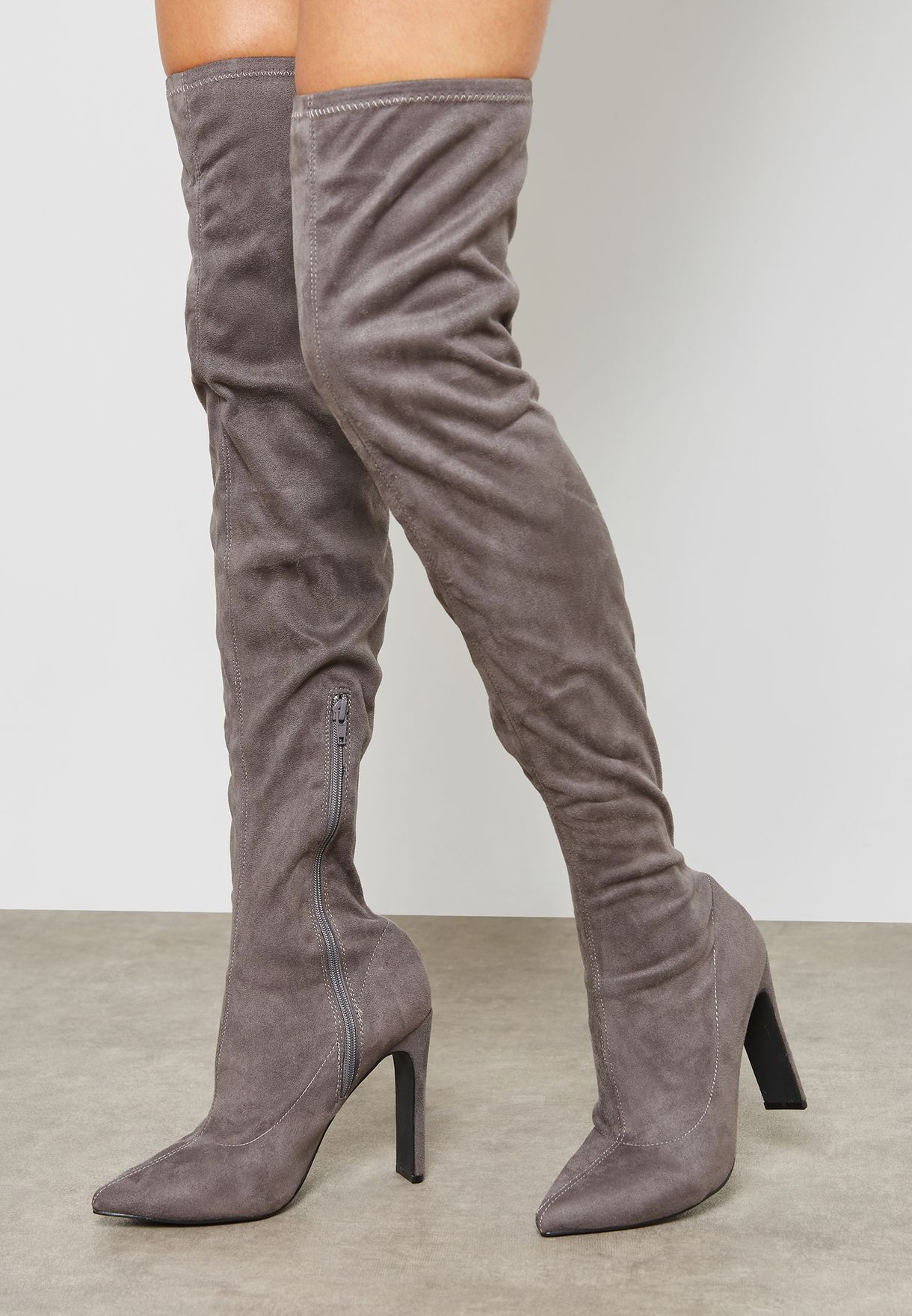 Stage Set Back Heel Over The Knee Boot