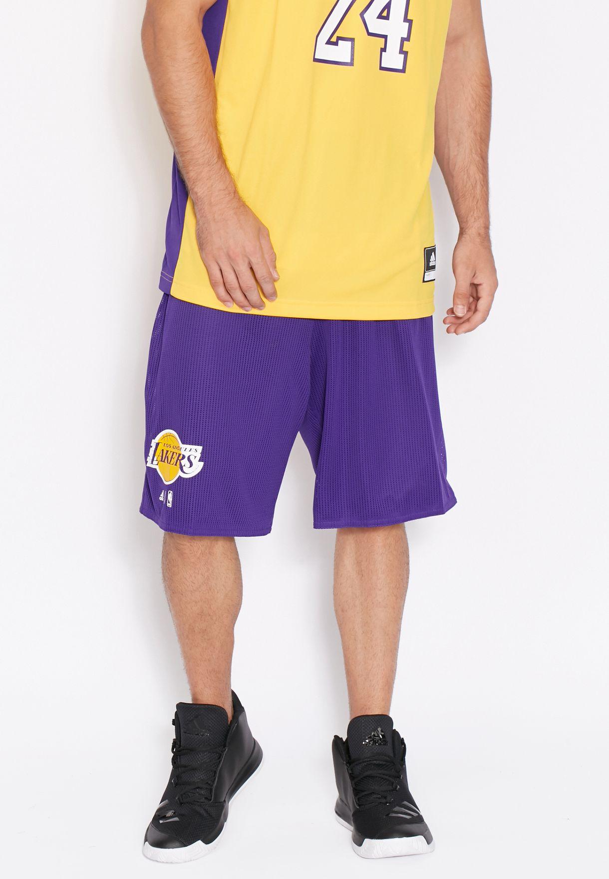 Shop adidas purple LA Lakers Reversible Shorts AX7609 for Men in Saudi -  AD476AT97BDM 5bfbcd463