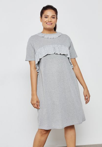 فستان ميدي بكشكش