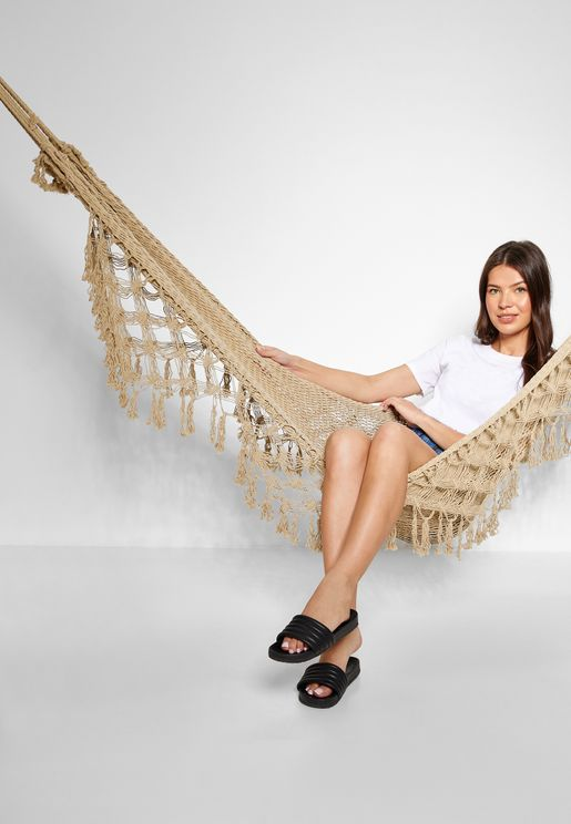 Hand Knotted Cotton Hammock - 200x80cm