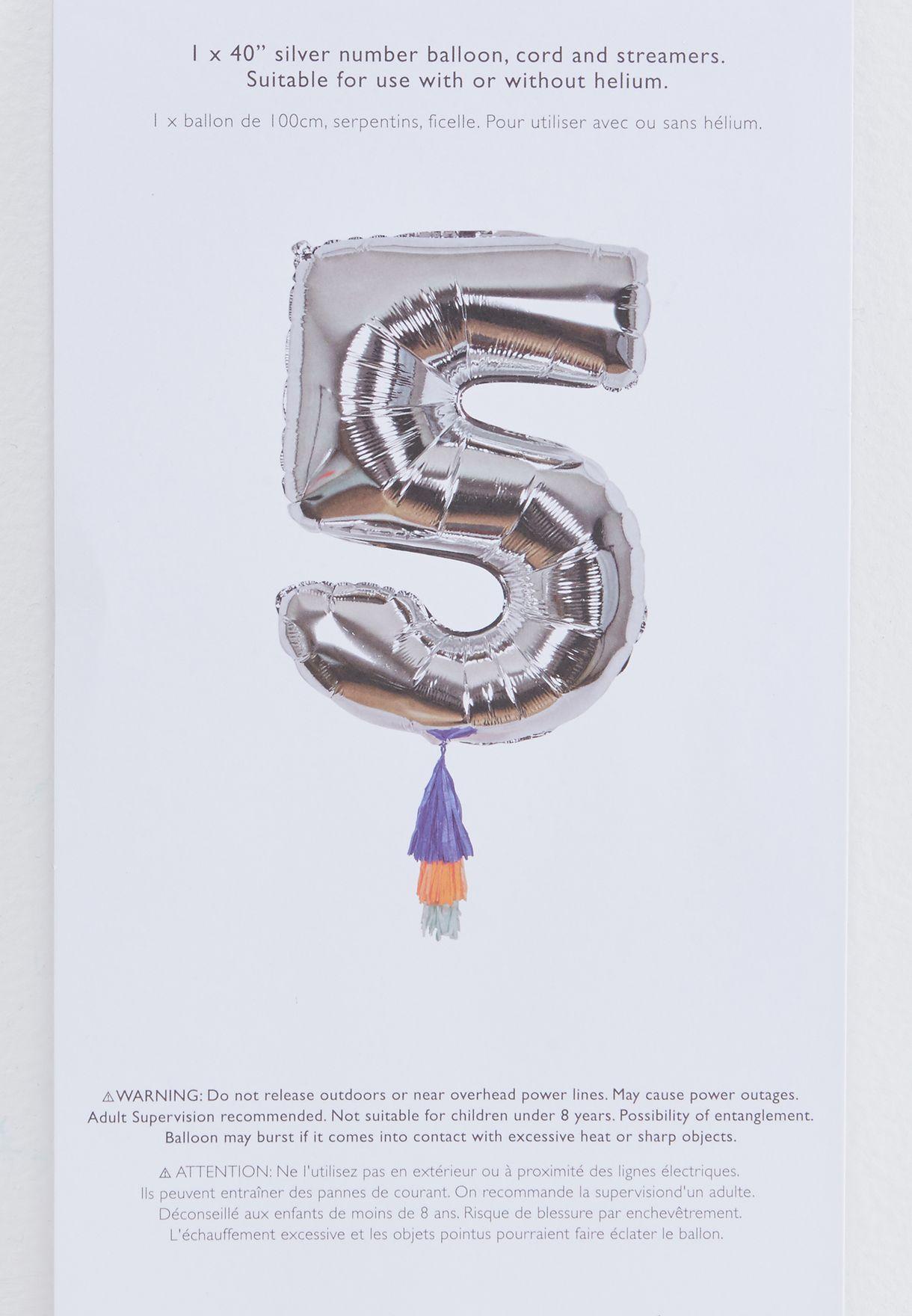 5 Number Fancy Balloon