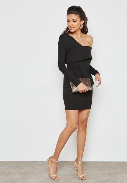 Lavish Alice. One Shoulder Bodycon Dress