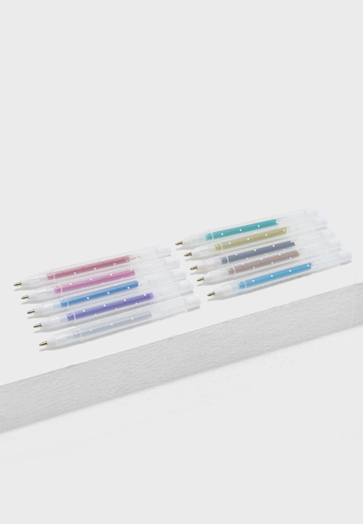 10 Pack Lucky Star Gel Pens