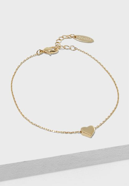 Thread Heart Chain Bracelet