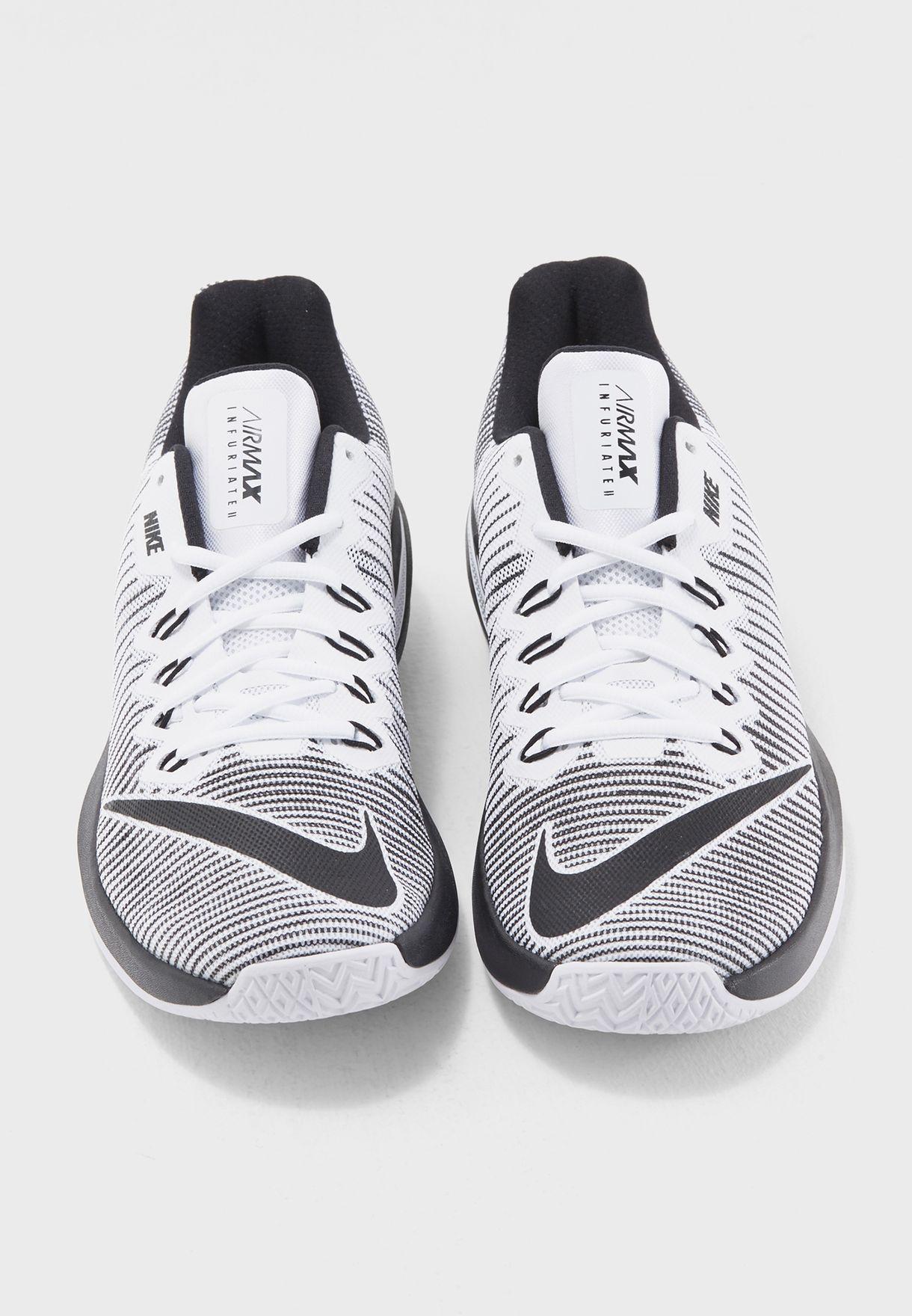 47213daa6eadd4 Shop Nike monochrome Air Max Infuriate 2 Low 908975-100 for Men ...