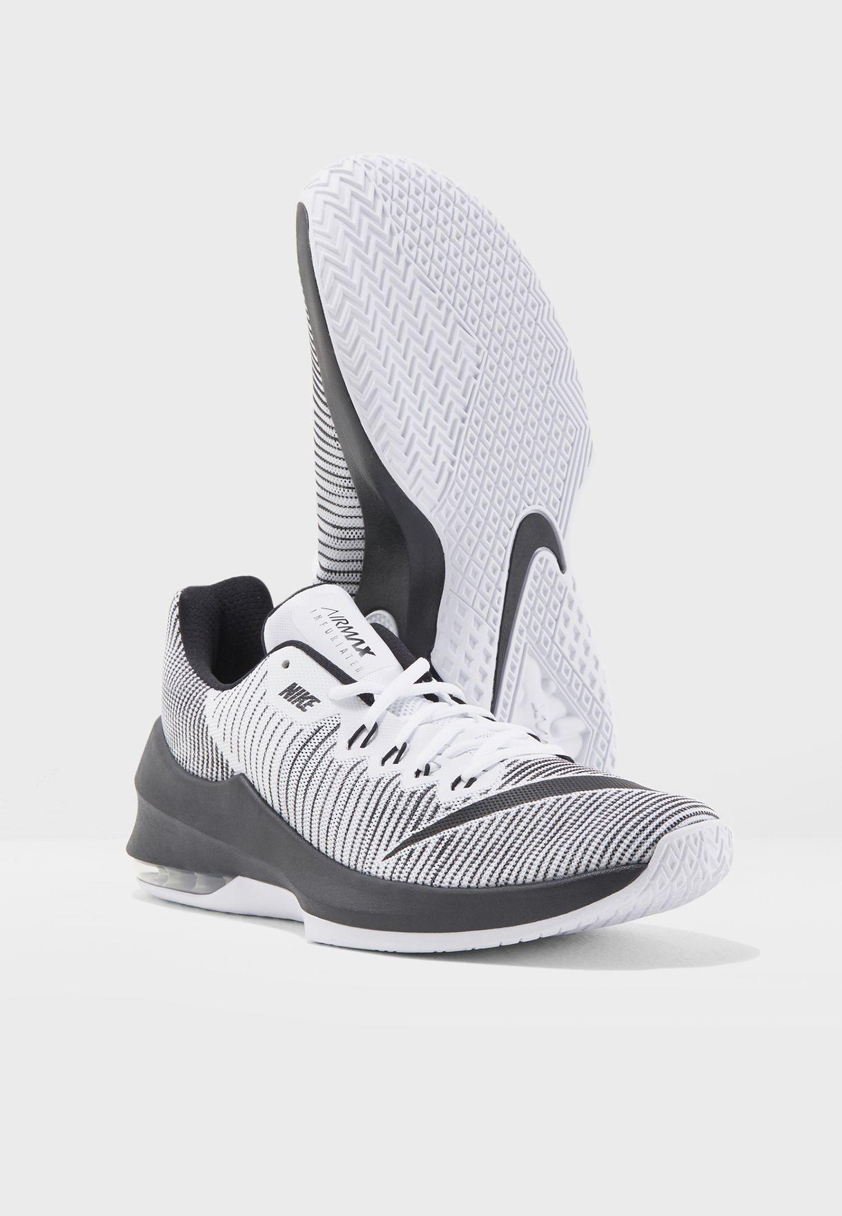 7ce00e4218aa Shop Nike monochrome Air Max Infuriate 2 Low 908975-100 for Men ...