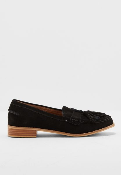 LILY SUEDE TASSLE FLAT SHOES
