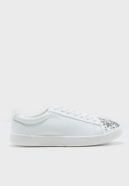 Embellished Toe Cap Sneaker
