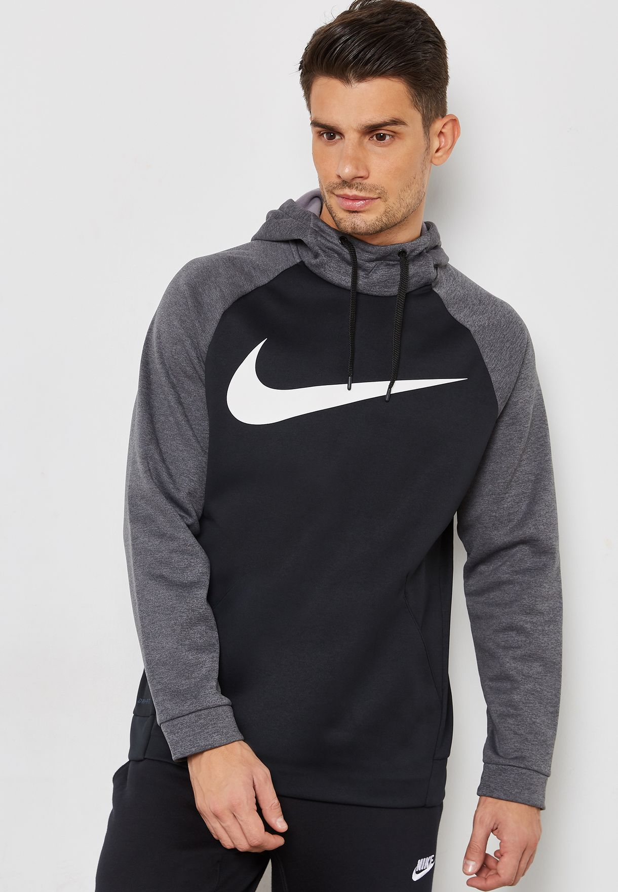 37bdf81eb62e Shop Nike multicolor Essential Therma Swoosh Hoodie 931991-010 for ...