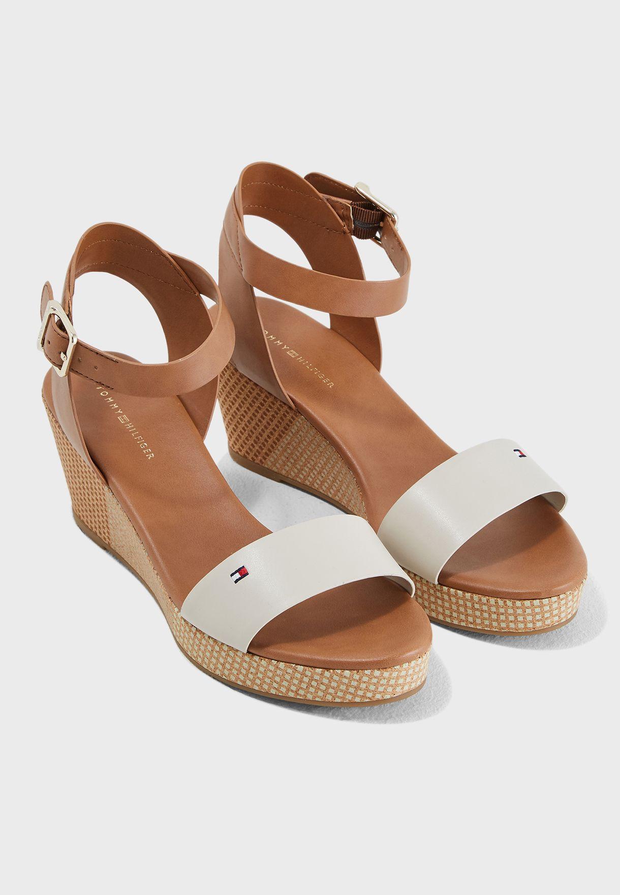 9e135d12e423 Shop Tommy Hilfiger multicolor Feminine Mid Wedge Sandal ...