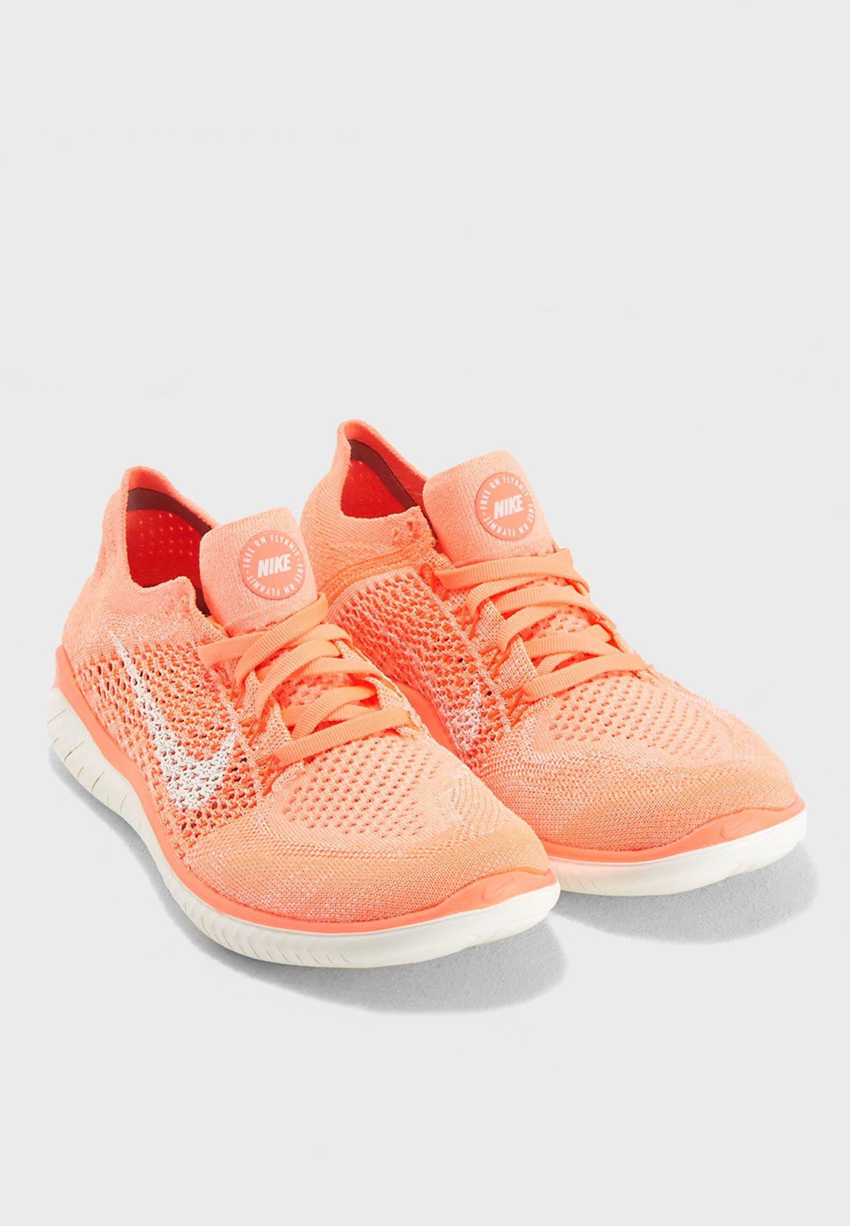 7a7f2a70d9e7c Shop Nike pink Free RN Flyknit 2018 942839-801 for Women in Kuwait ...