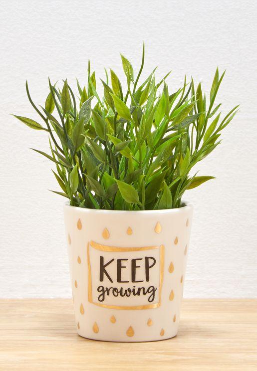 وعاء نباتات مطبع
