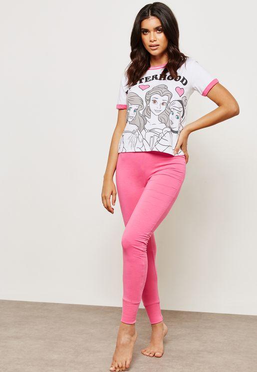 Printed T-Shirt & Leggings Set
