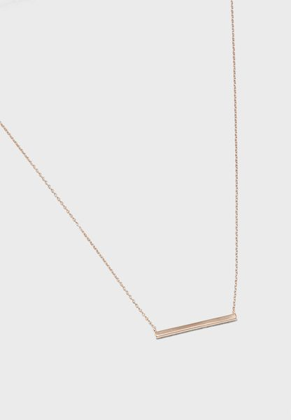 Short Horizontal Bar Necklace