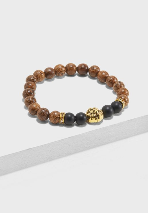 Lion Detail Beaded Bracelet