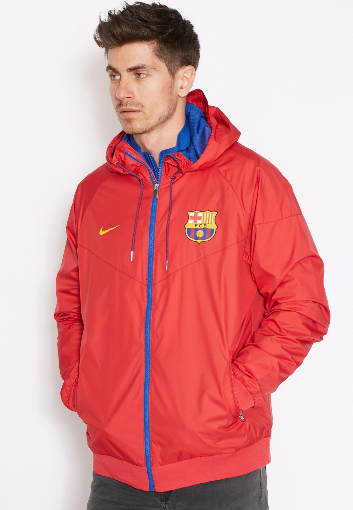 débiles catalogar Probar  Buy Nike red FC Barcelona Authentic Windrunner for Men in MENA, Worldwide |  810302-687