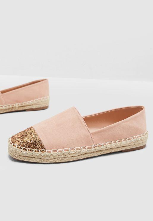 حذاء اسبادريل بنمط كتل الالوان