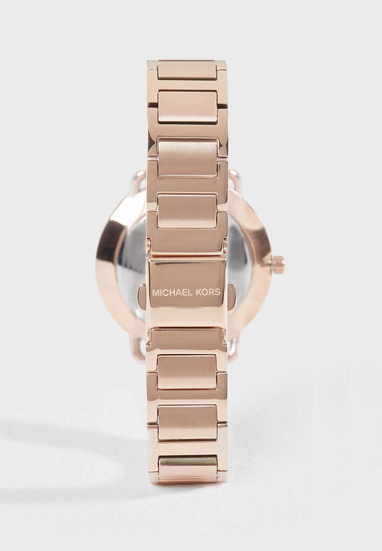 4ace5a41b3d3 Shop Michael Kors gold Portia Watch MK3841 for Women in UAE ...