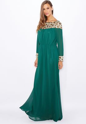Anaya Embellished Trim Dress