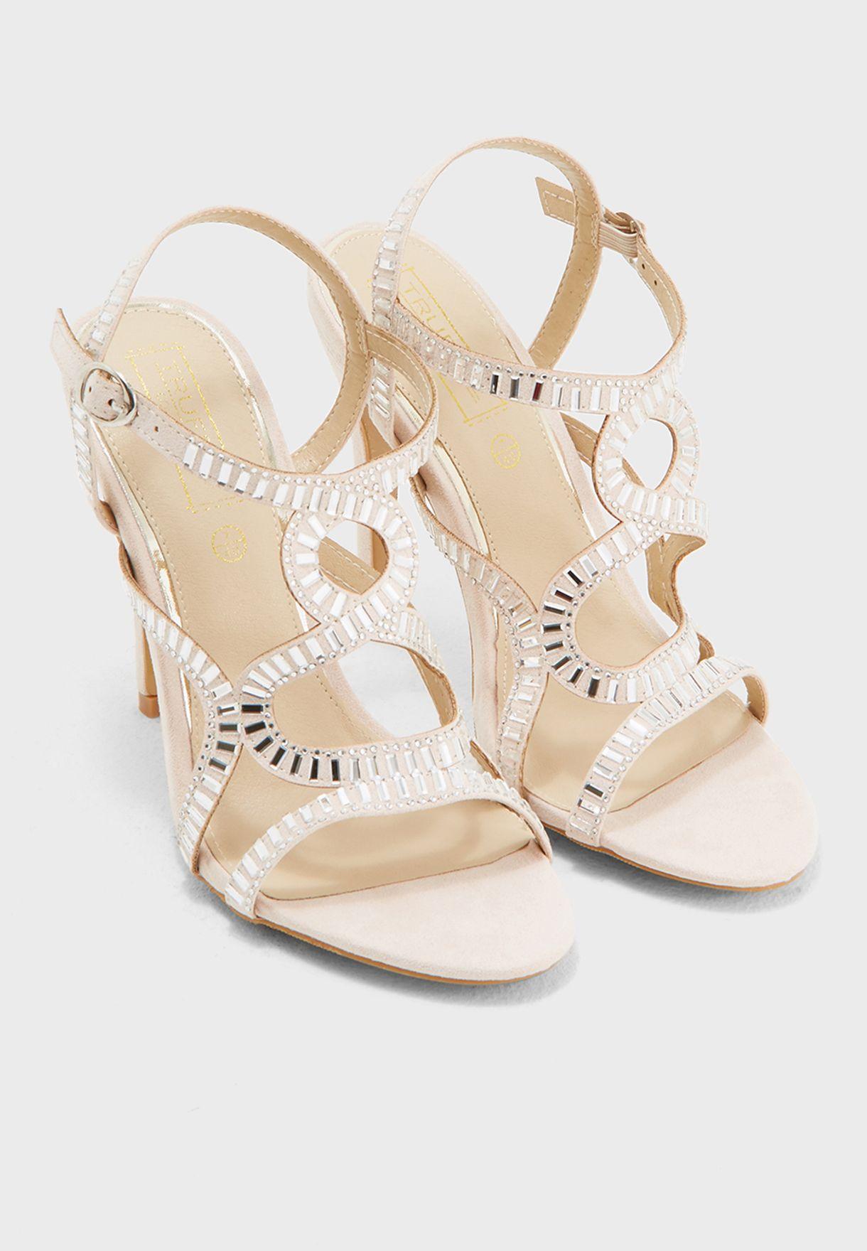 Zig-Zag Heel Sandals